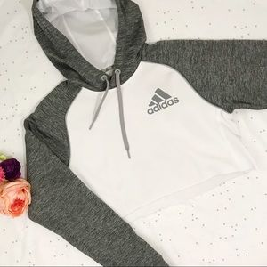 Adidas Team Issue Cropped Raglan Hoodie Size Small